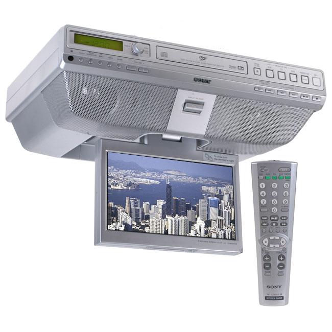Kitchen Under Cabinet Radio Cd Player: Sony ICF-DVD57TV Under-the-Cabinet LCD TV DVD/CD Clock
