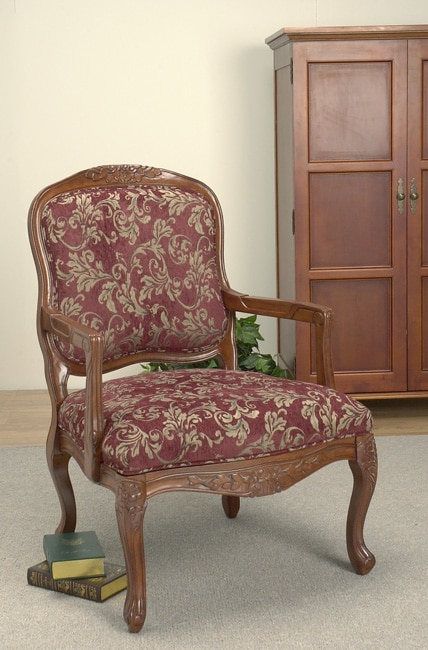 Burgundy Accent Chair 10374630 Overstock Com Shopping