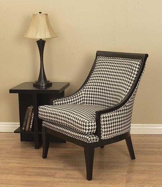 Medford Houndstooth Black Wood Trim Chair 10390344