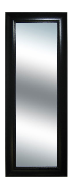 Black Grooved Frame Long Wall Mirror - Overstock Shopping ...