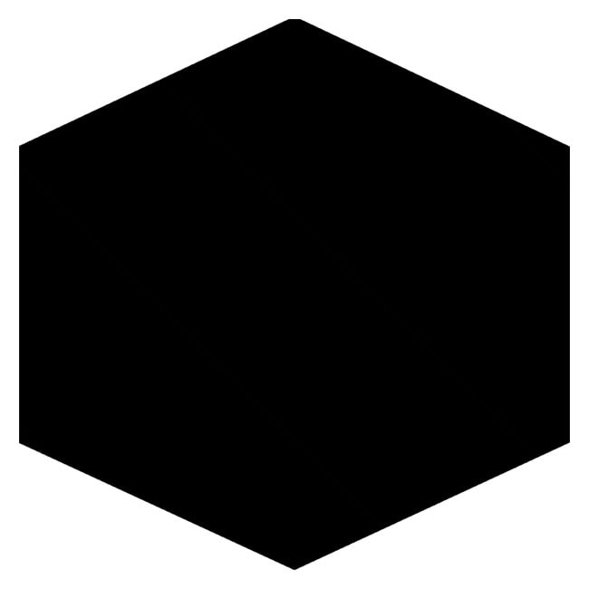 Black Hexagonal Mirror Tiles (Set Of 3)