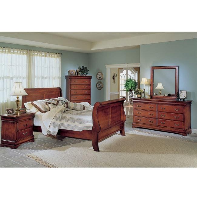 Claremont Cherry 5-piece Queen Bedroom Set