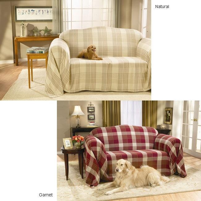 Plaid Washable Sofa Throw 10572908 Overstock Com
