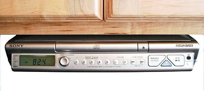 Sony Under Cabinet 4 Band Cd Kitchen Clock Radio