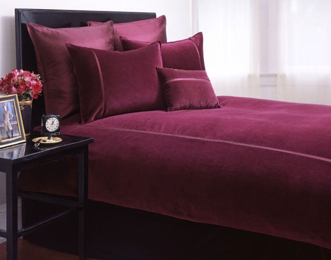 Soft Velvet Merlot Duvet Cover Set Overstock Shopping Great Deals On Duvet Covers