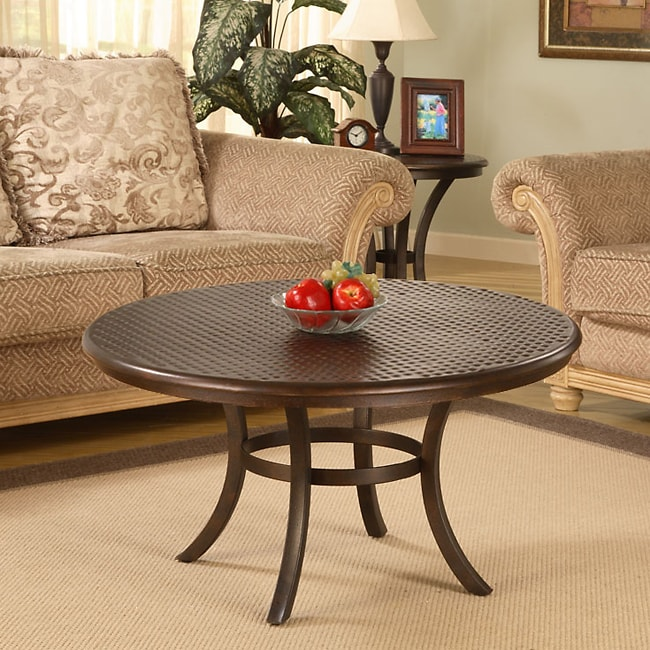 Hammered Metal Coffee Table 10751299 Overstock Com