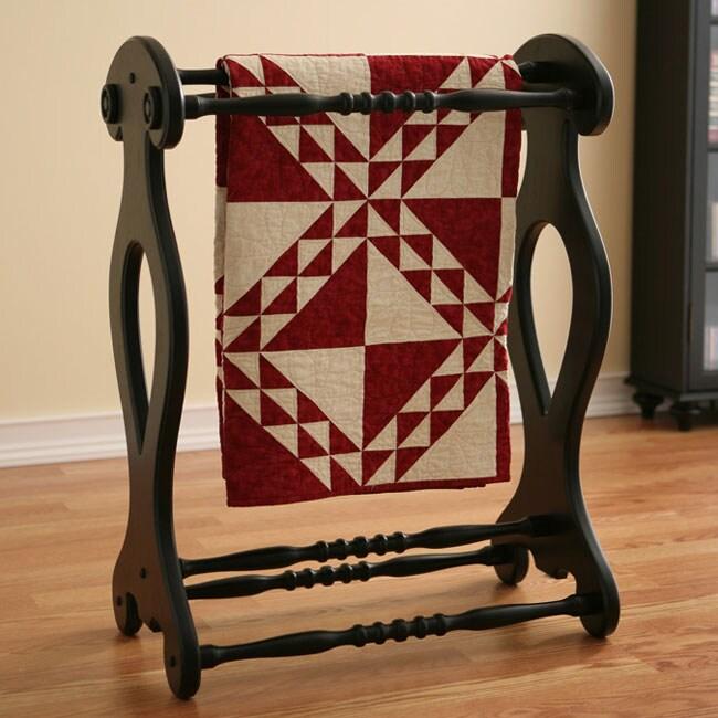 Antique Black Blanket Quilt Rack 10766119 Overstock