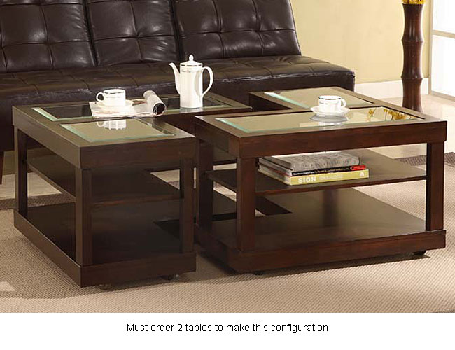 L Shaped Contemporary Accent Table Overstock Shopping