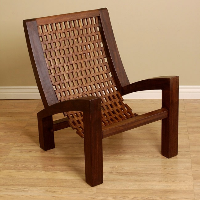 Hand-woven Wooden Arm Chair (Colombia)