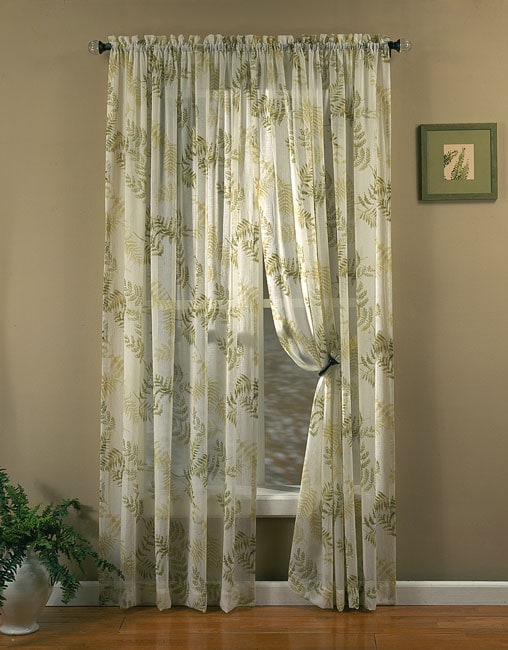 Fern 84 Inch Rod Pocket Tailored Window Curtain Panel