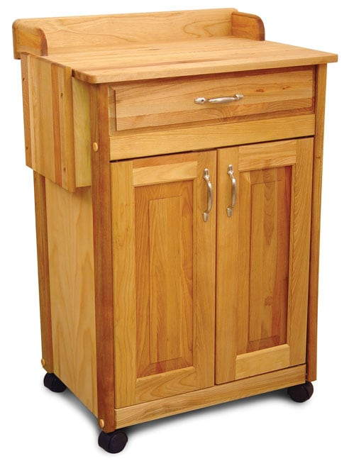 Rolling Wood Kitchen Cart 10819349 Overstock Com