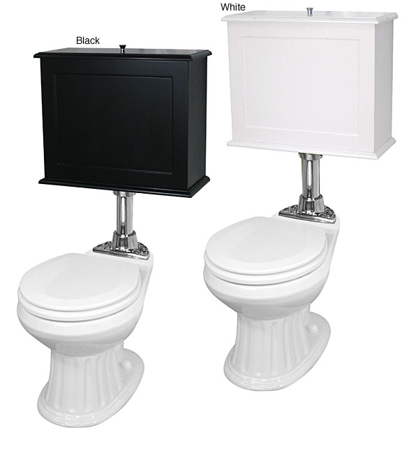 Innovations Raised Wood Tank Toilet With Chrome Trim