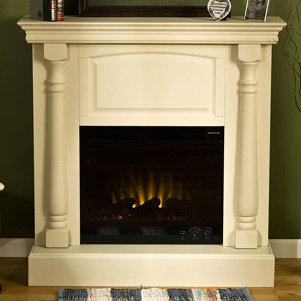 Grenoble Antique White Electric Fireplace 10852271
