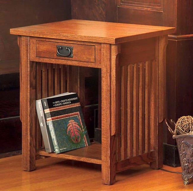Mission Solid Oak End Table 10871568 Overstock Com