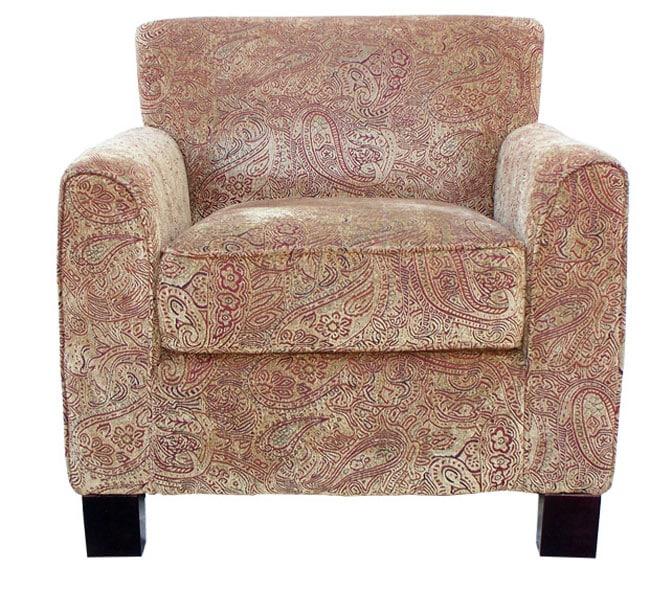 Park Avenue Paisley Velour Arm Chair 11068802
