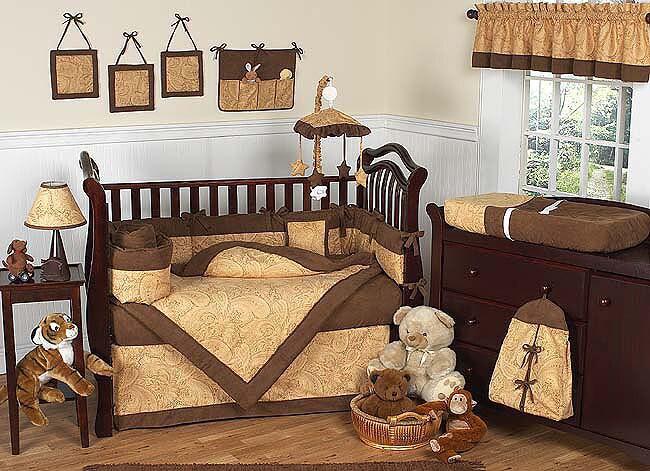 Camel Brown Paisley 12 Piece Baby Bedding Set 11090922