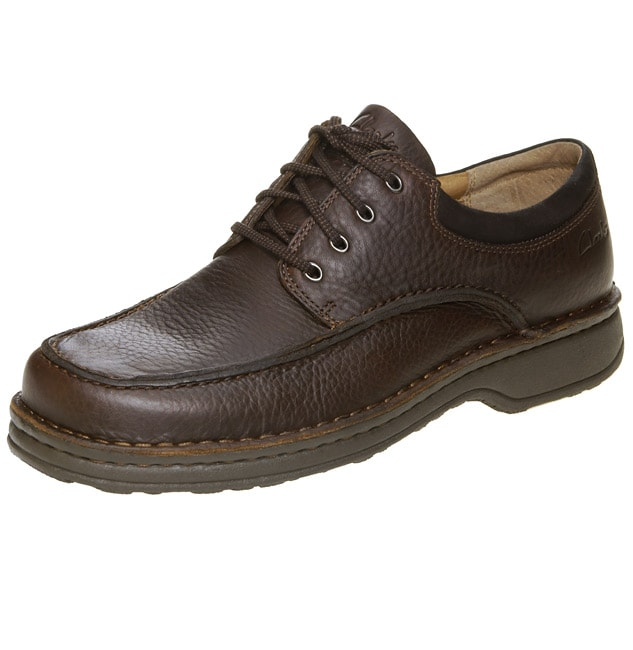 ed8d3c9859c6 Clarks Mens Ranger Brown Leather Oxford Shoes on PopScreen