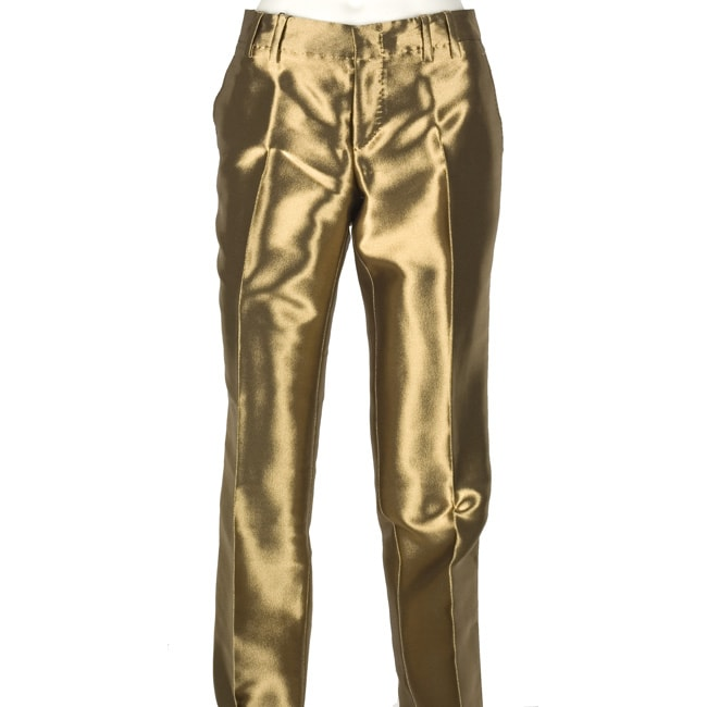 Gucci Women S Gold Pants 11146220 Overstock Com