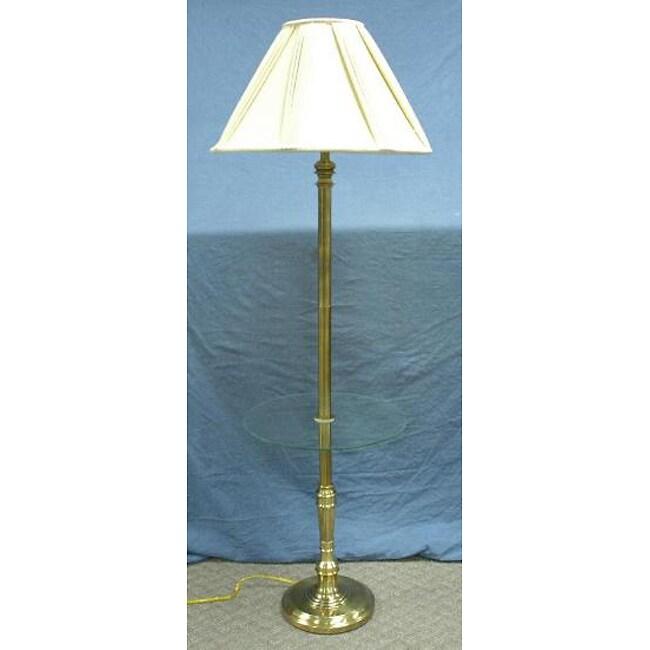 Stiffel Antique Brass Gallery Floor Lamp 11154888 Overstock Com Shopping Great Deals On