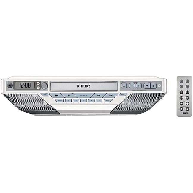 Kitchen Under Cabinet Radio Cd Player: Philips AJ6111 Under The Cabinet CD Clock Radio
