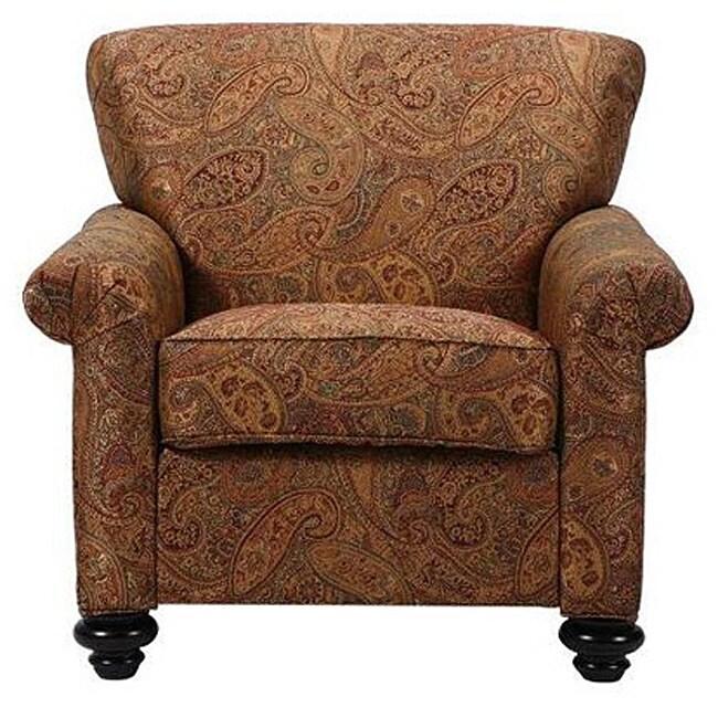 Capri Eight Way Hand Tied Brown Paisley Arm Chair