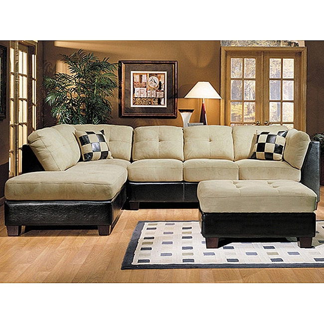 Where Can I Find Cheap Furniture Online: Monica Microsuede Sectional Sofa