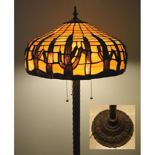 Tiffany Style Stained Glass Cactus Floor Lamp 11378639