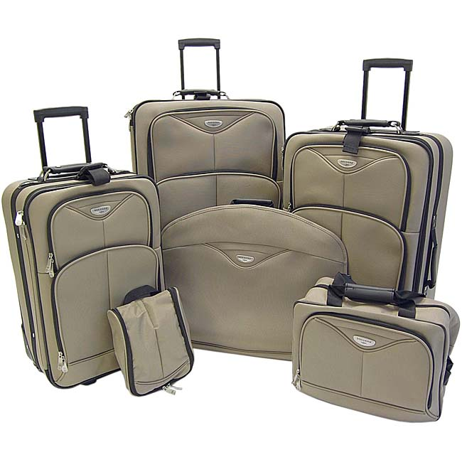 Dockers Stone Harbor 6 Piece Rolling Luggage Set