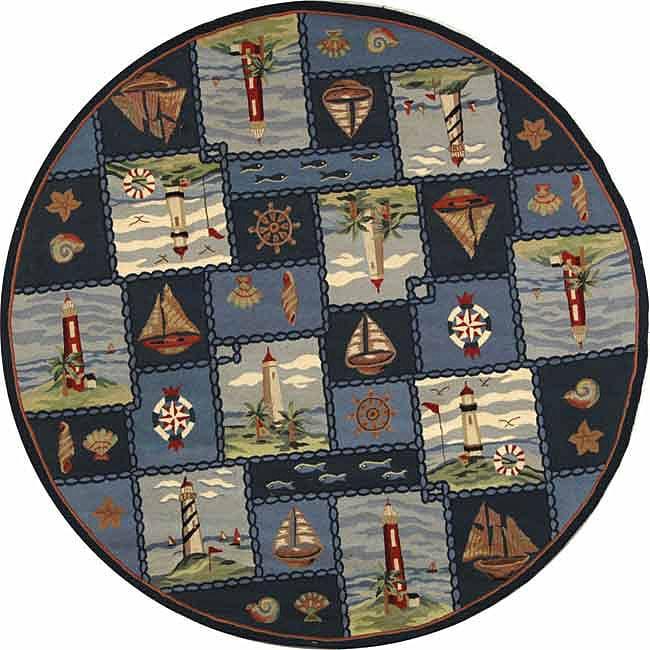 Nautical Blue Rug: Share: