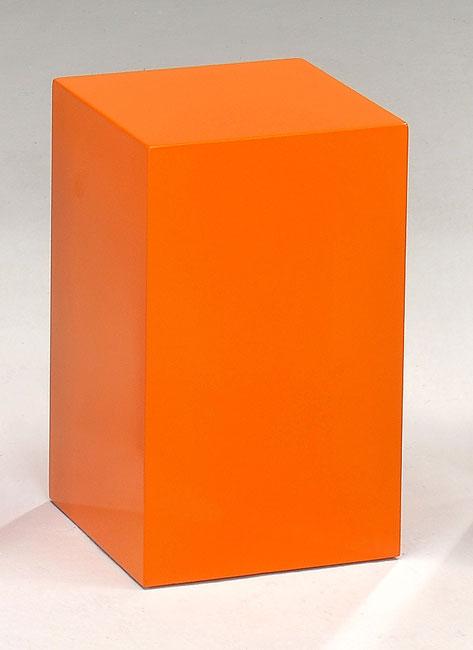 Orange Cube Stools Tables Set Of 2 11406325