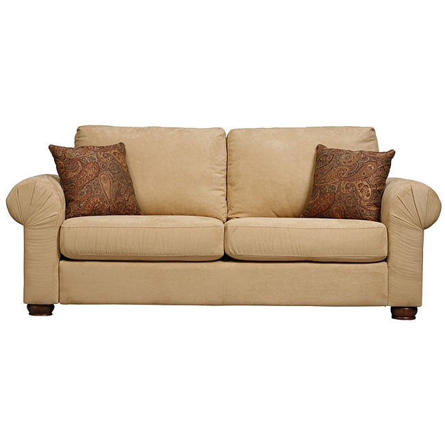 Olga Rolled Arm Sofa Butter Microfiber