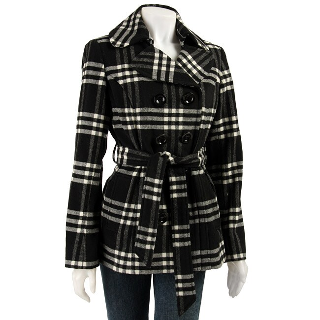 Collection By Gallery Women S Plaid Wool Trench Coat