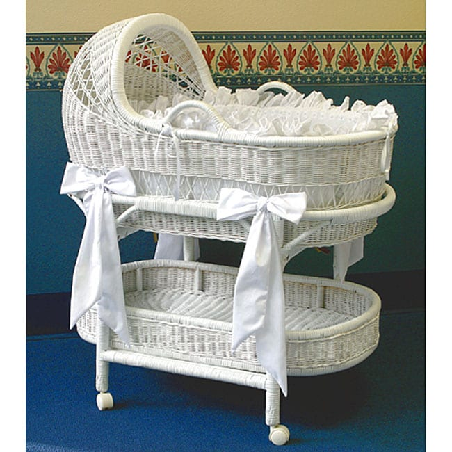La Baby Wicker Bassinet And Bedding Set 11452470