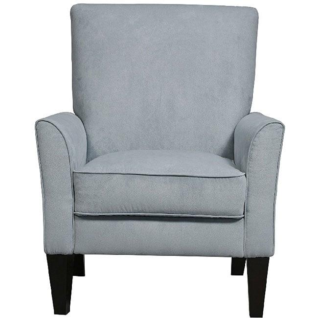Goa Sky Blue Microfiber High Back Arm Chair
