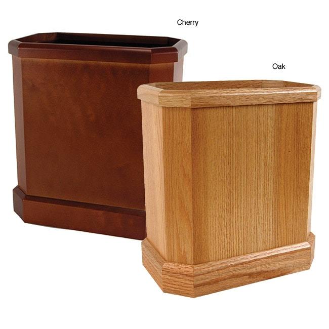 Buddy Wooden Waste Basket 11497568 Overstock Com