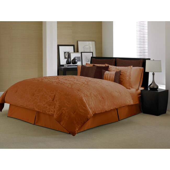Kensington Paprika Chocolate 4 Piece Comforter Set