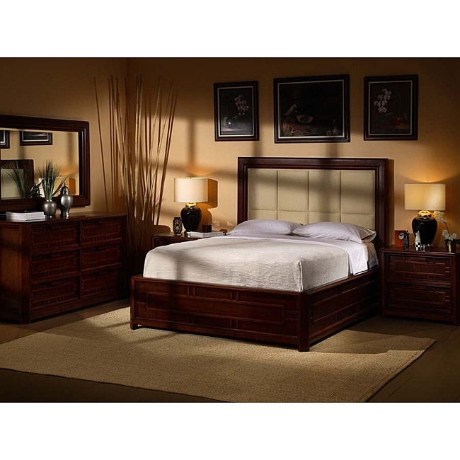 Kyomi Asian Style 5 Piece King Bedroom Set 11518198