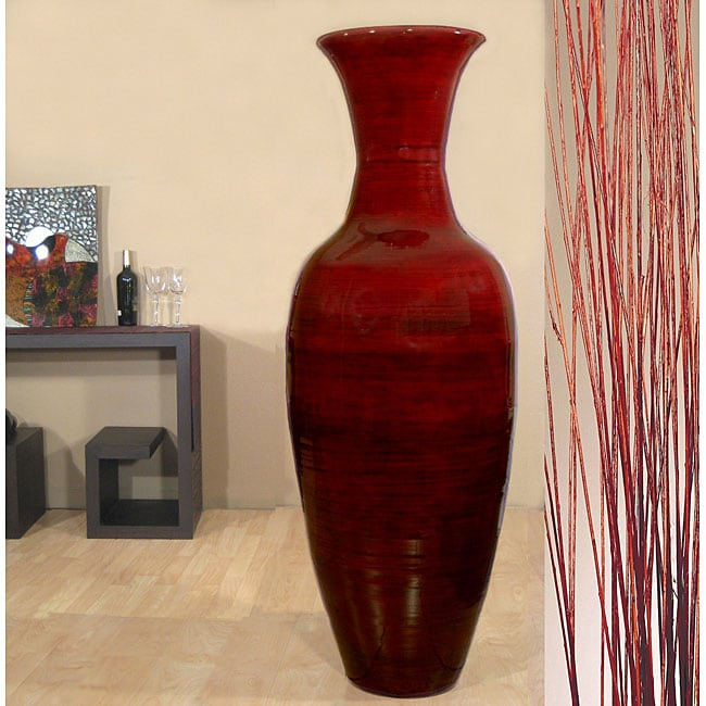 Tall Mahogany 60 Inch Bamboo Vase And Branches 11538187 Overstock Com Shopping Great Deals