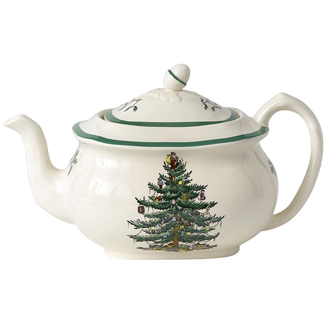 Spode Christmas Tree Sale: Spode Christmas Tree Tea Pot And Cover