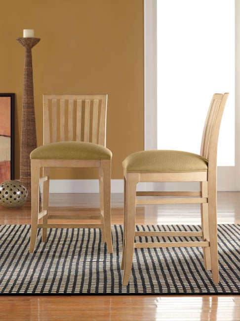 Thomasville Seagrove Slat Back Counter Stools Set Of 2