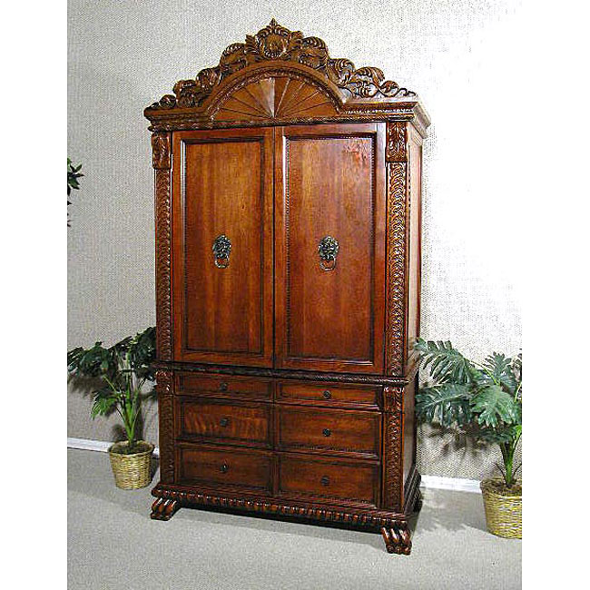 Regal Solid Cherry Wardrobe or TV Armoire - Overstock ...
