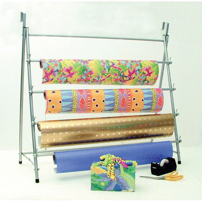 Metal Over The Door Stand Up Wrapping Paper Rack