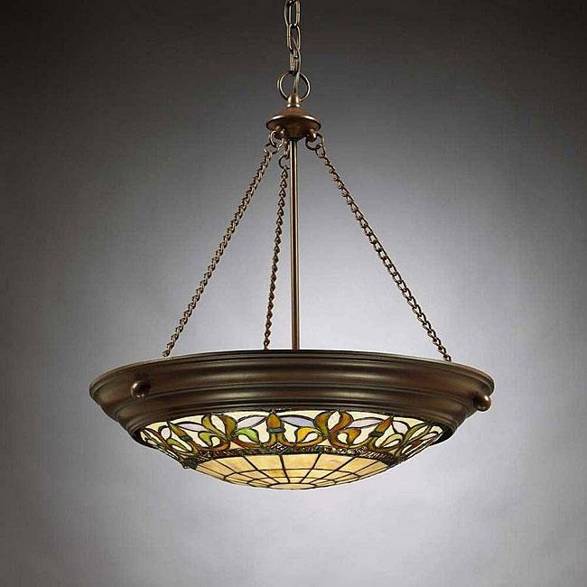 Overstock Lighting: Tiffany-style Inverted Pendant Light