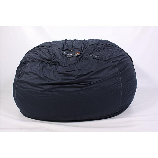 Lovesac Supersac 6 Foot Foam Lounge Chair Navy 11718283
