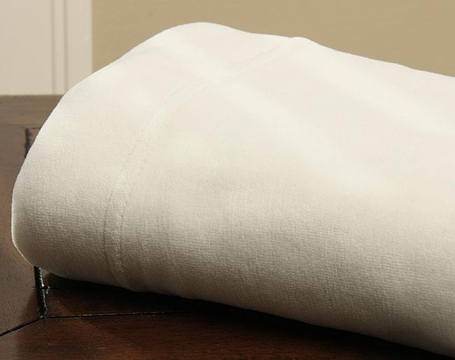 Ivory Velour Sheet Set Overstock Shopping Great Deals
