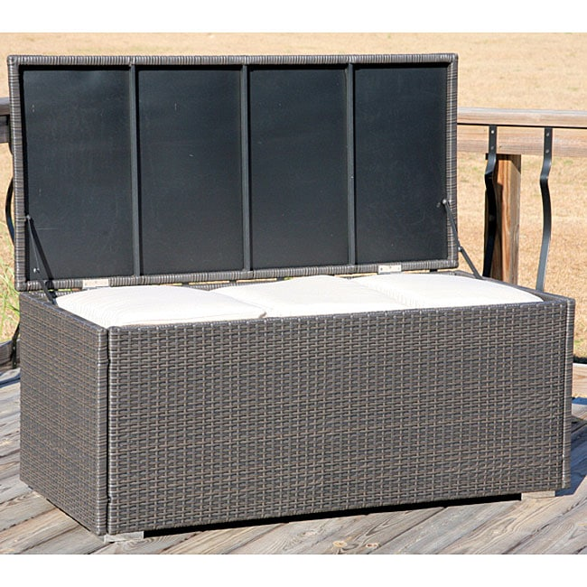 All Weather Wicker Storage Trunk 11882270 Overstock