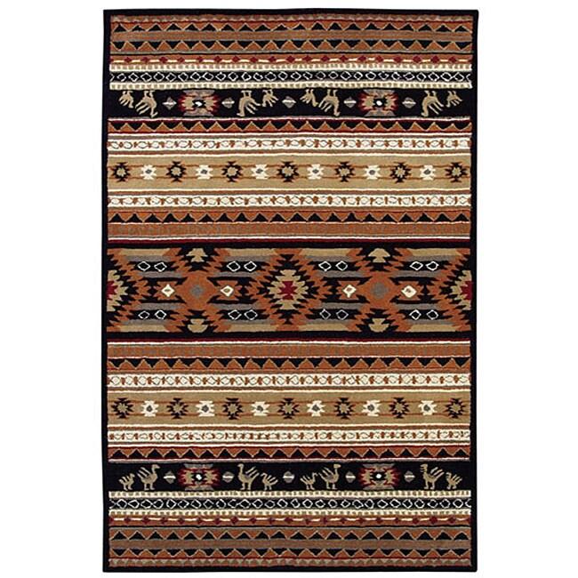 Hand Tufted Cherokee Wool Rug 5 X 8 11889895