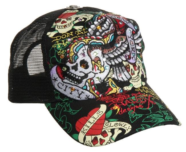24de6063dcb Ed Hardy New York City Rhinestone Hat on PopScreen