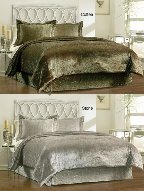 Overstock Bedroom Sets: Renaissance 4-piece King-size Comforter Set