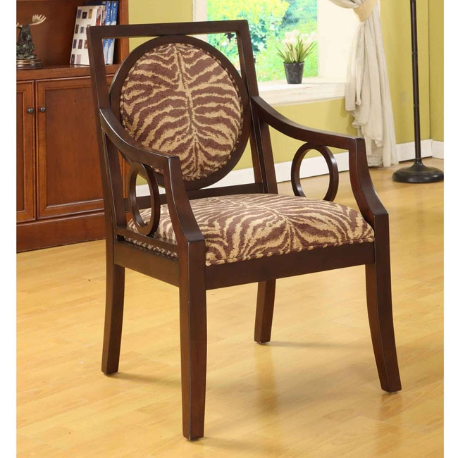 Bengal Circle Accent Chair 11915690 Overstock Com